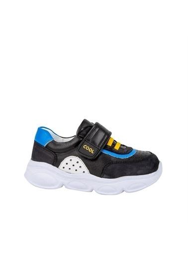 Kids A More Bowen Tek Cırtlı Deri Erkek Çocuk Sneaker  Siyah